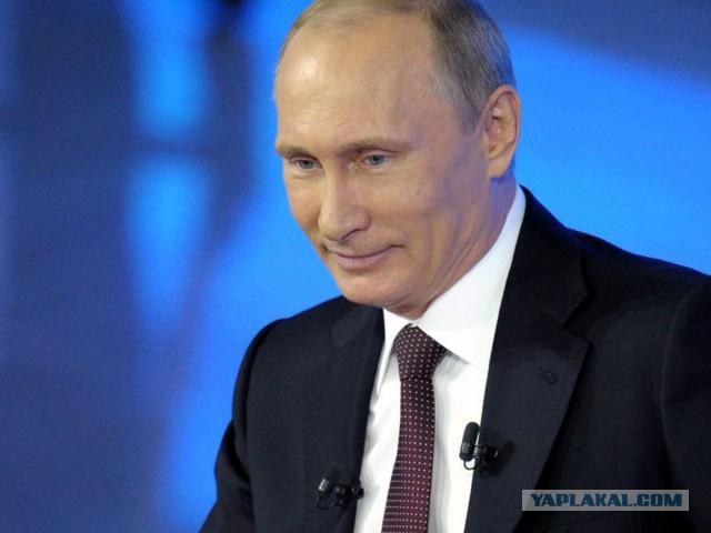 Жители Нью-Йорка вышли поддержать Владимира Путина