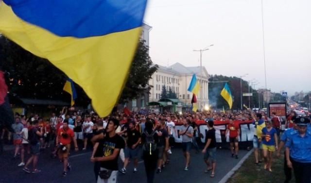 Фанаты Коломойского послали КИЕВ