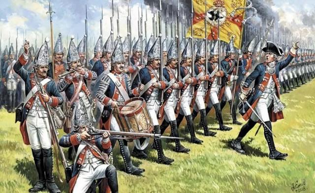 Зачем солдаты XVIII века носили напудренные парики?