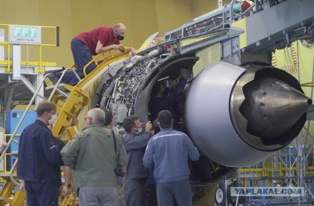 Первая установка двигателей ПД-14 на самолет МС-21-310