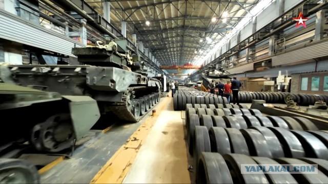 """Сборка танков Т-14 """"Армата"""" для опытно-войсковой эксплуатации"""