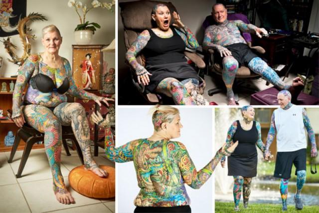 Самые татуированные пенсионеры в мире