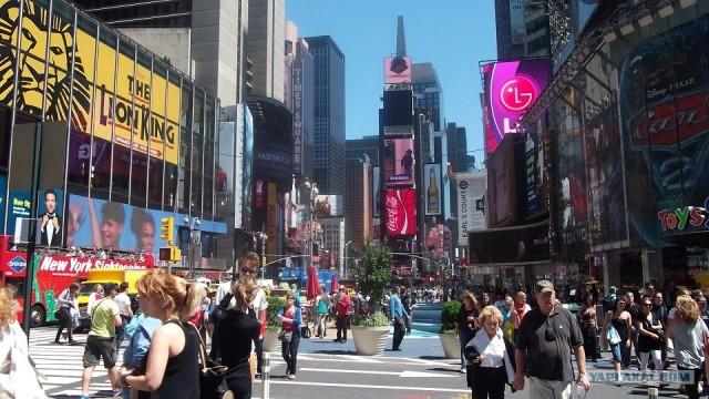 Утренняя прогулка в Нью Йорке.