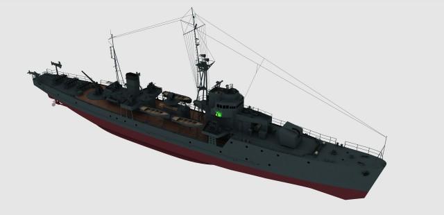 """Создание бумажной модели. Японский эскортный корабль тип """"Хибури"""""""