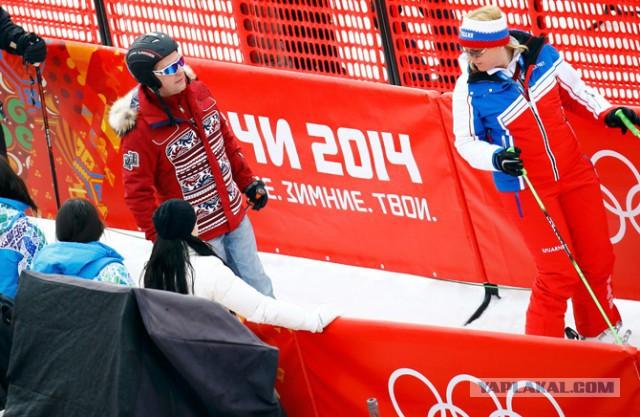 Как Путин и Медведев смотрят Олимпиаду
