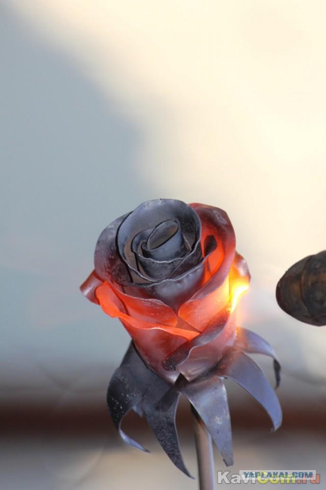 Как сделать кованную розу из металла