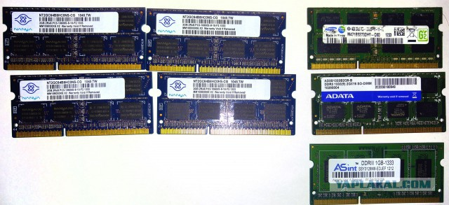 Продам память для ноутбука