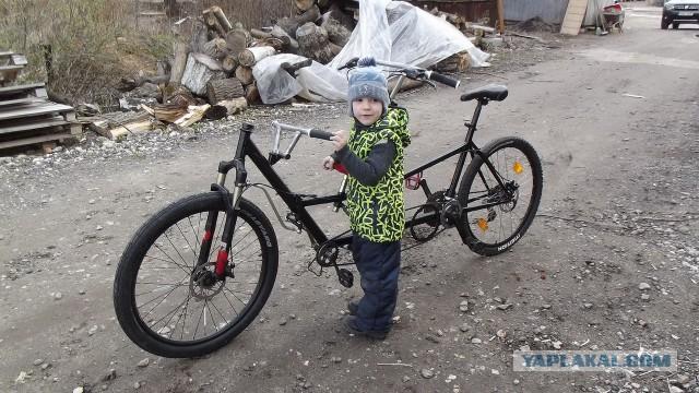 Продаю велосипед тандем для катания взрослого с ребенком