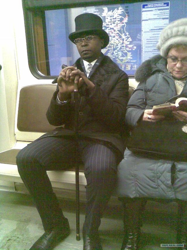 Аристократ в Московском метро