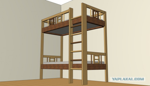 Двухпалубная кровать в домашних условиях