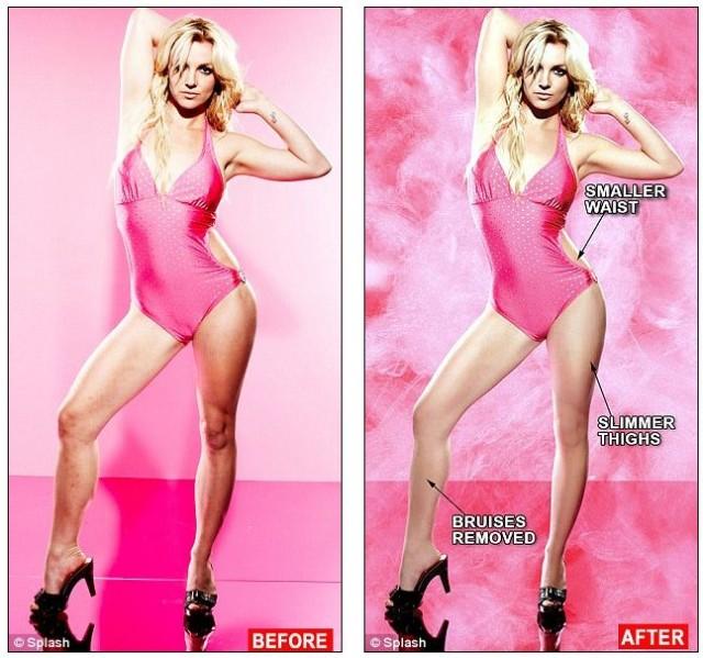 """Бритни говорит: """"Фотошоп не рулит"""""""