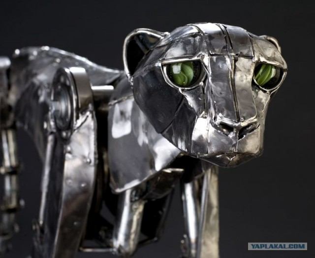 Механический гепард в стиле стимпанк