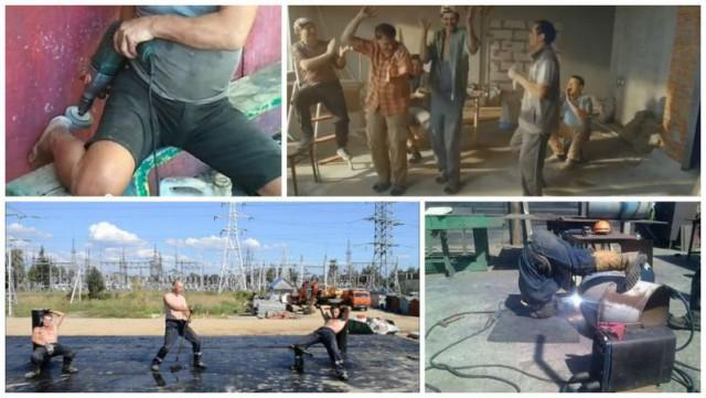 Кто хорошо работает, тот хорошо отжигает или веселые будни российских строителей