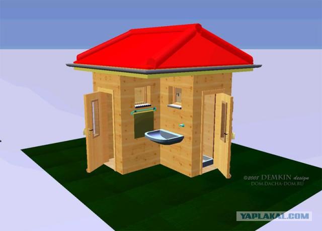 Дачный туалет + душевая один из вариантов
