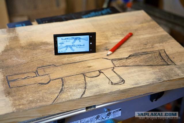 Как сделать деревянный автомат своими руками