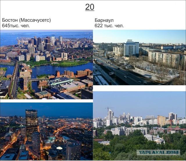 Пять крупнейших городов россии