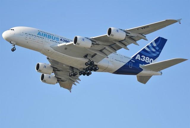 Первый прилет А380 в Москву