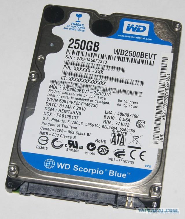 "Western Digital WD2500BEVT 2,5"""