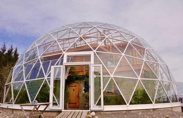 Nature House - экодом под геокуполом в Арктике
