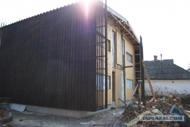 Обожженный фасад своими руками