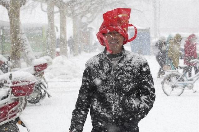 Китай полностью засыпало толстым слоем снега