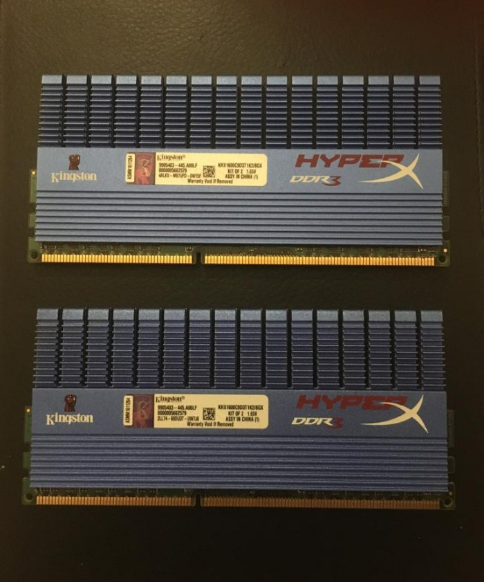 Ddr3 1600 4gb x 2 Kingston HyperX