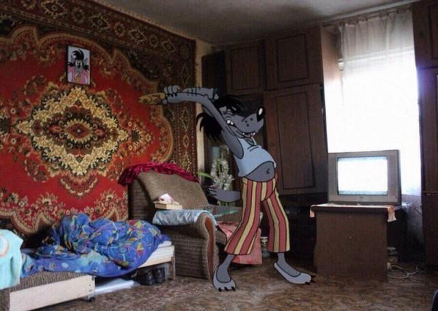 Герои советских мультфильмов в реальности