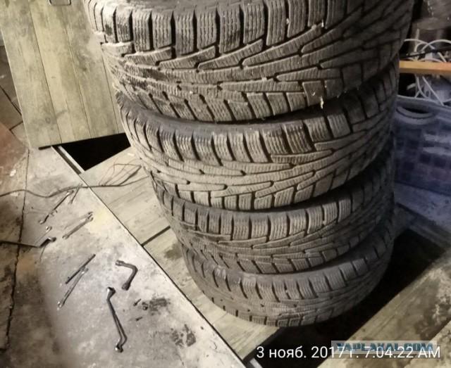 Липучка nokian hakkapeliitta 235/60 17'' на дисках