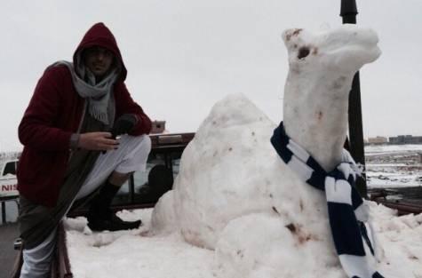 В Саудовской Аравии ударили морозы и выпал снег