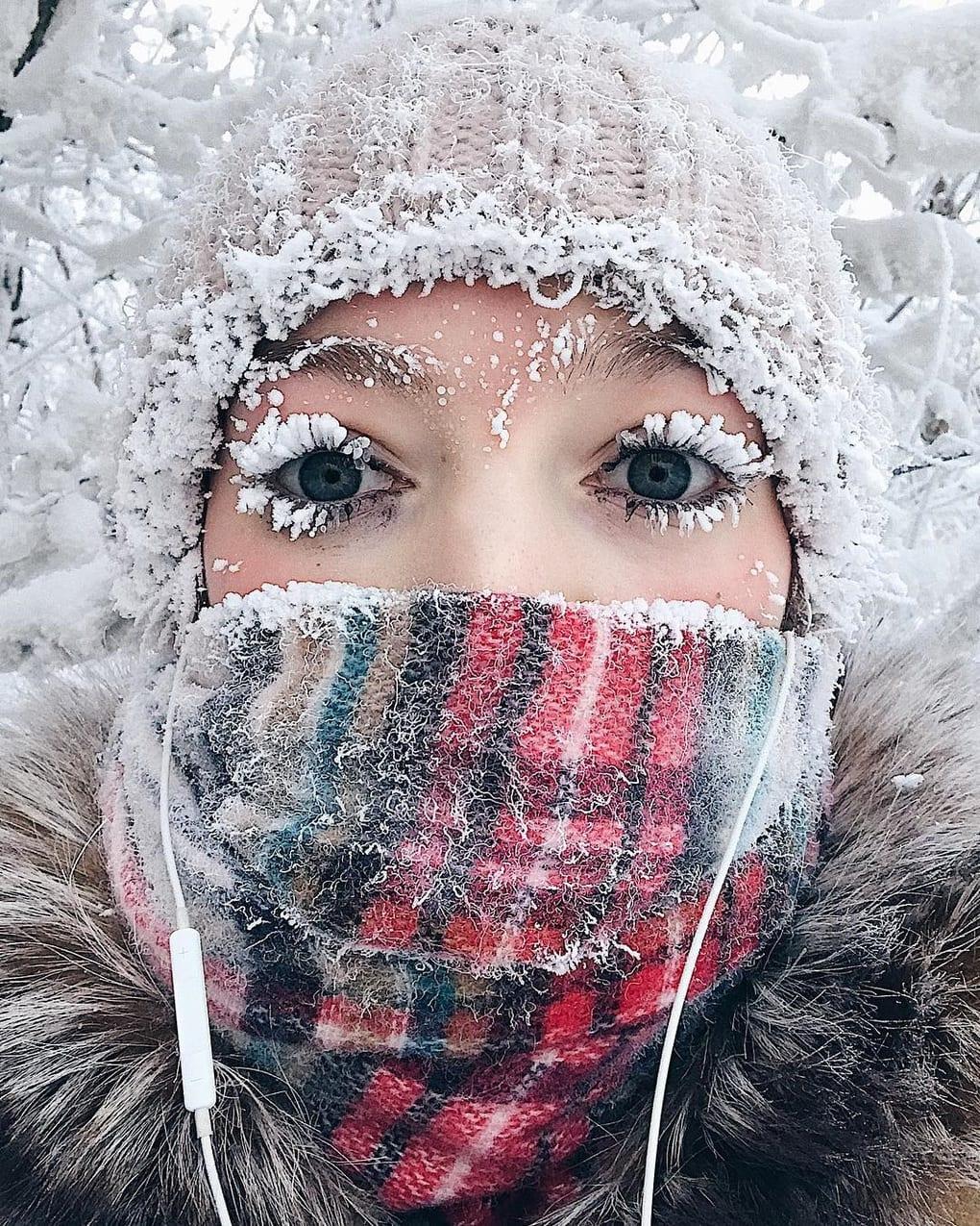 Мороз на лице картинки