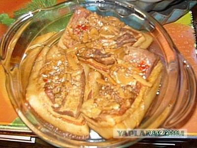 как приготовить соус рубленное сало