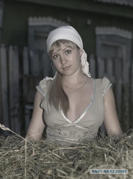 фото русских деревенских девак