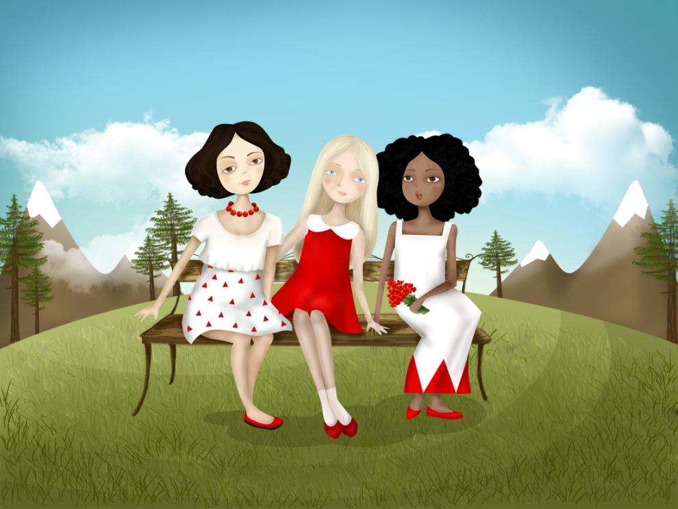 Картинка прикольная три девицы