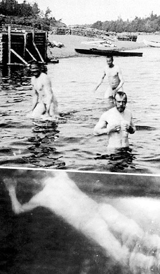 Купальщики начала 20 века.