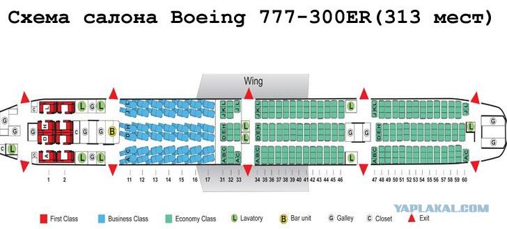 777 300er схема салона