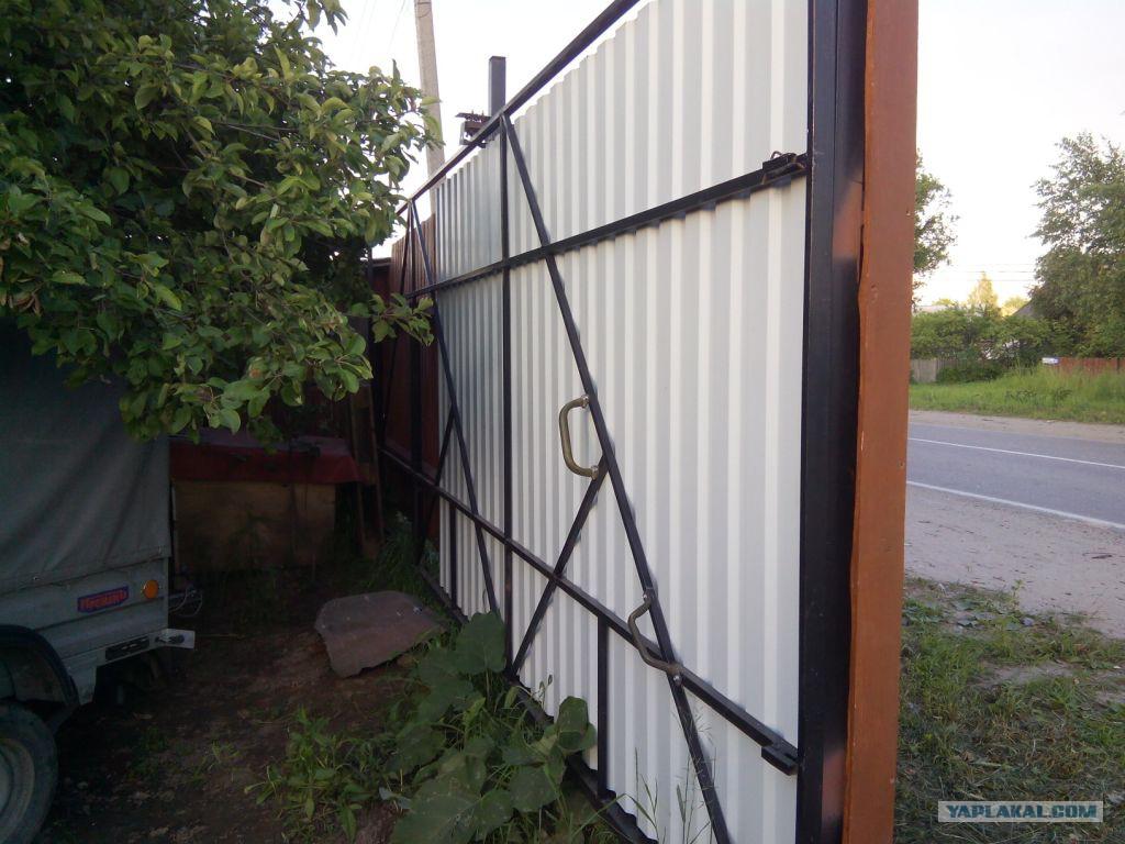 Откатные ворота на даче купить автоматические ворота в вязьме