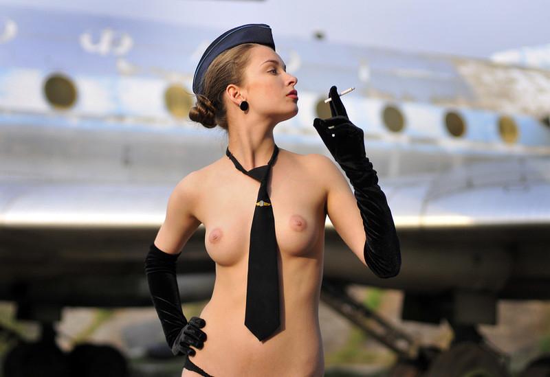 Air hostess pantyhose