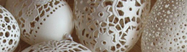 Удивительные узоры на яичной скорлупе