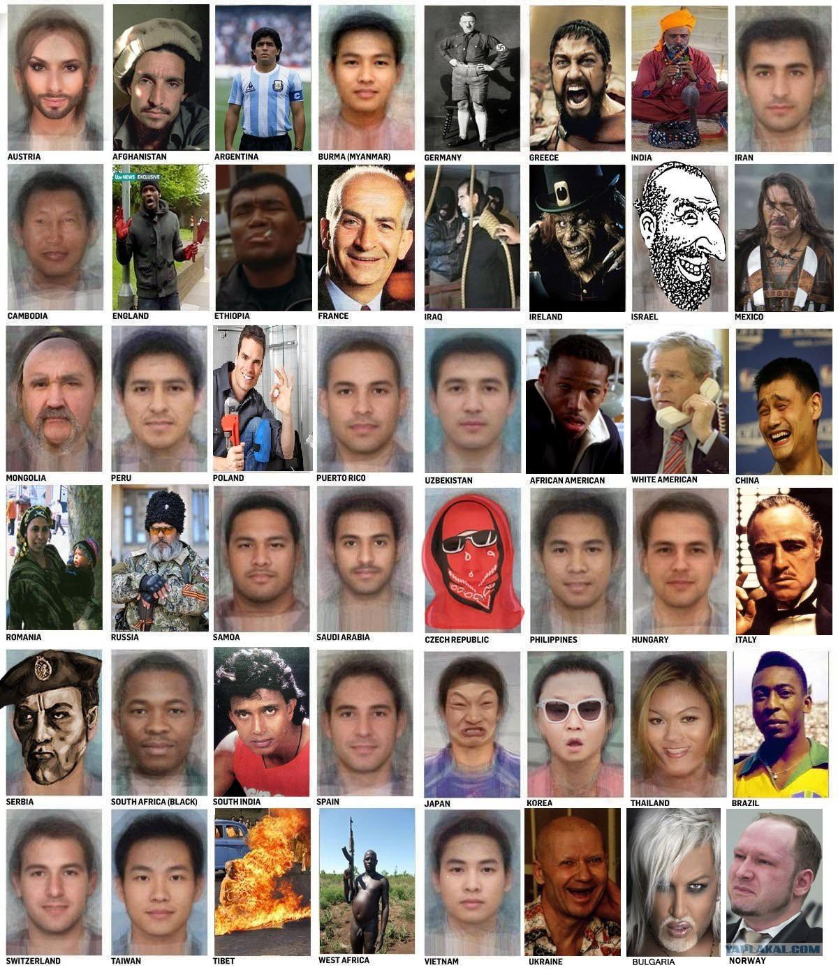 Как узнать свою национальность по внешности фото