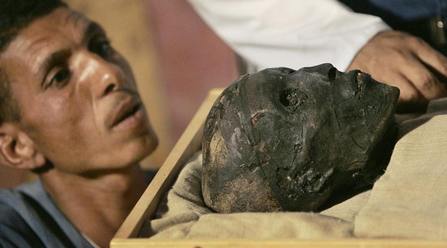 мумия тутанхамон фото