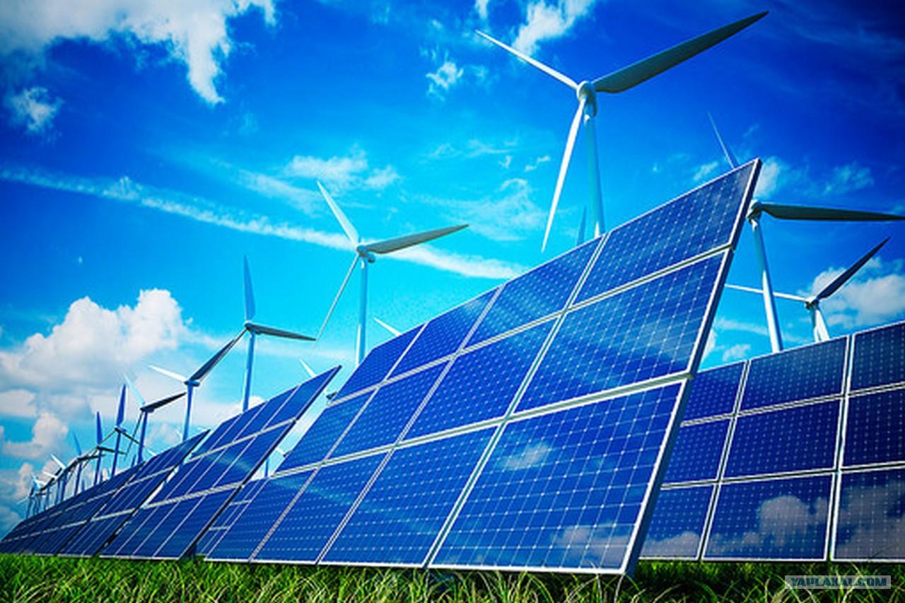 Солнечная электростанция картинка