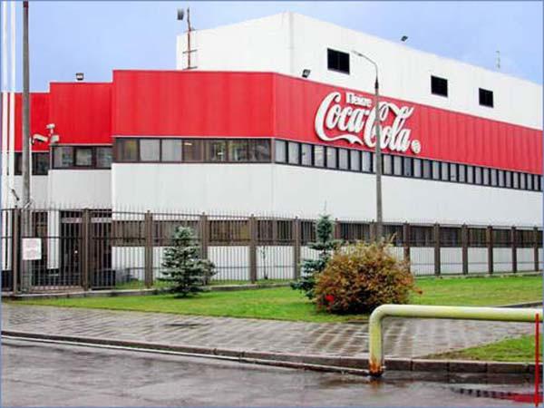 Завод кока колы в нижнем бонаква в стекле