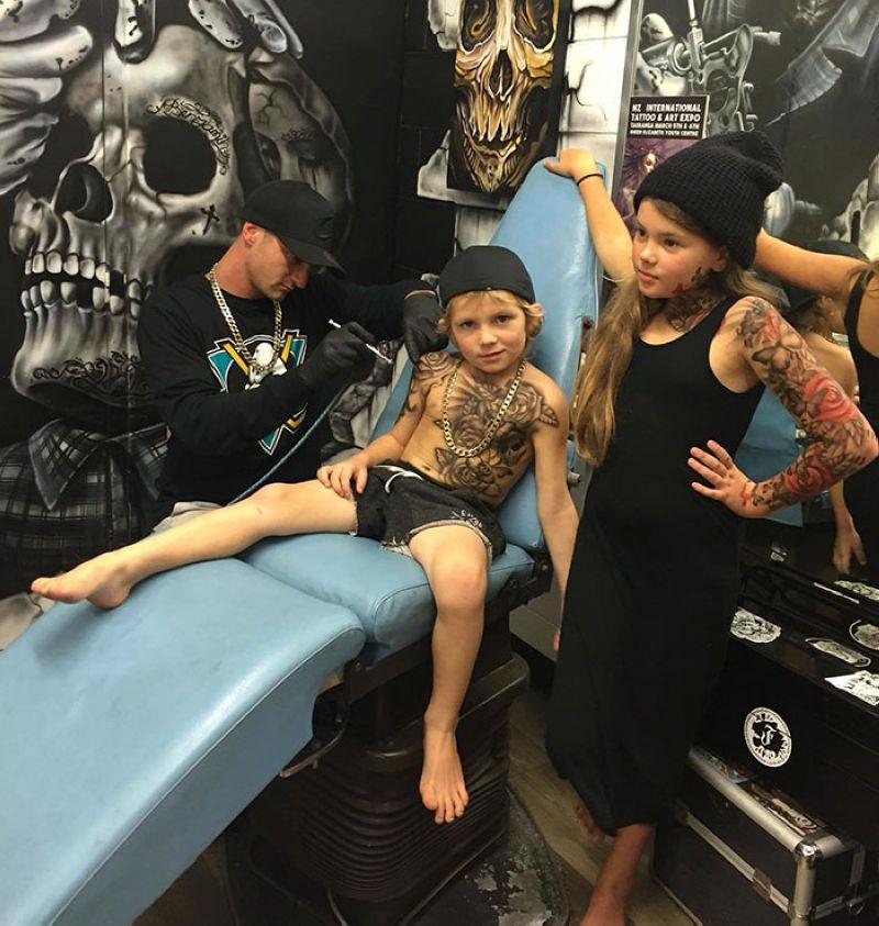 20 карточек в коллекции «Татуировки с изображением детей ... | 843x800