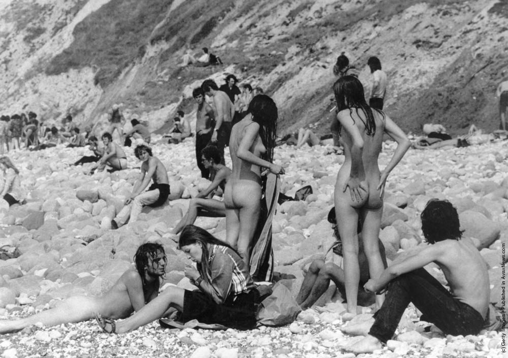 секс на пляже ретро фото