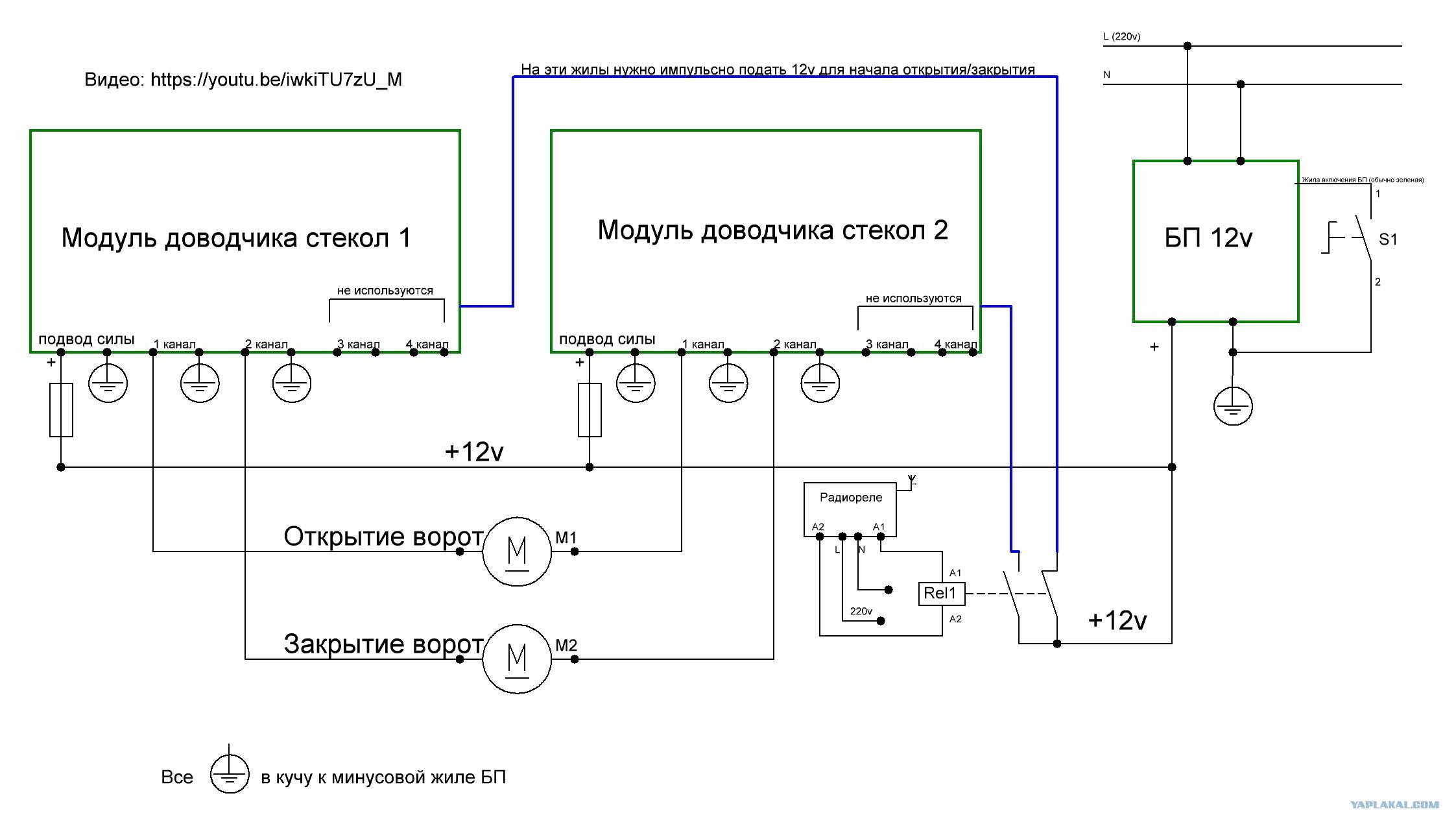 Схема электрическая для открывания ворот каретка тележка для тали td 1 0a 500 кг холостая для ворот