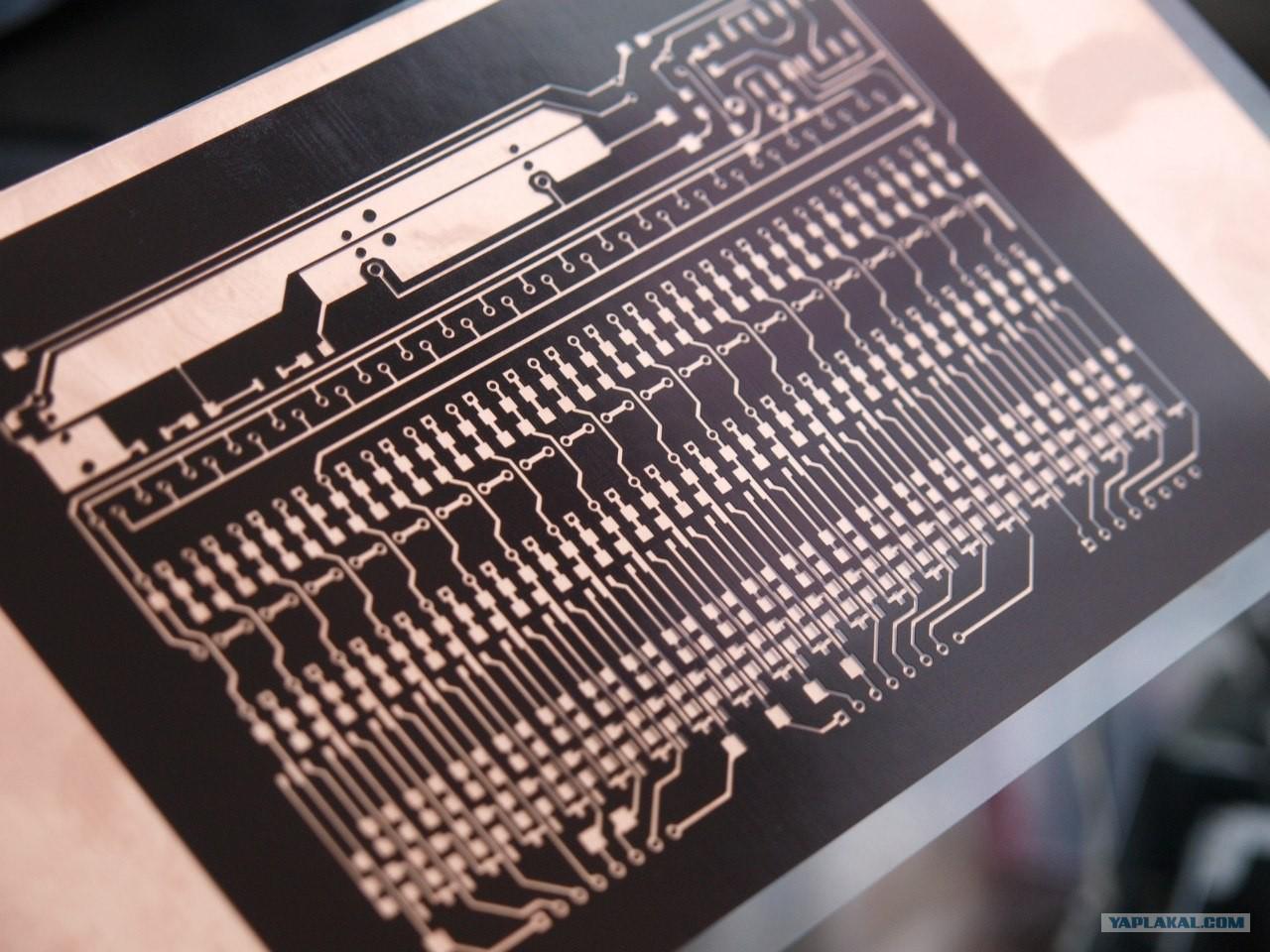 печать на пленке для проявления фоторезиста нарезать два свежих