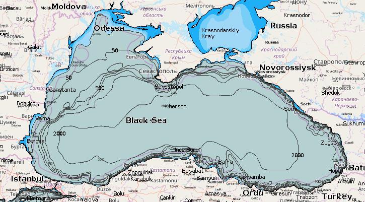 Древнегреческая карта черного моря