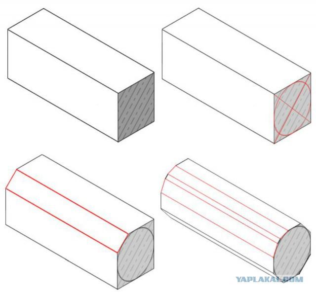 Описание округления и обтёски Александровской колонны