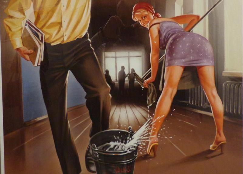 Другу, сантехник и домохозяйка смешные картинки