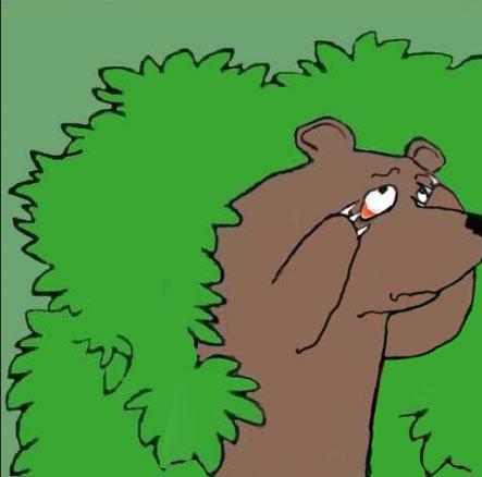 медведь уходящий в кусты картинка вязания больших